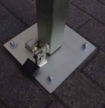 Mocowanie kłódki - blokada parkingowa