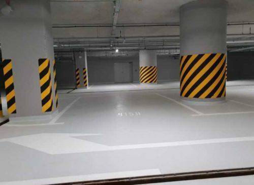 Oznakowanie parkingów | malowanie miejsc parkingowych